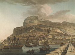 A North View of the Rock of Gibraltar from the Spanish Lines